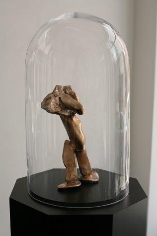 Thomas Gottschalk Skulptur, Bronzeguss, 26x15x10 cm, 2014
