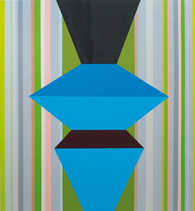 o.T. (blue figure) 140 x 130 cm, Acrylfarbe auf LW, 2013