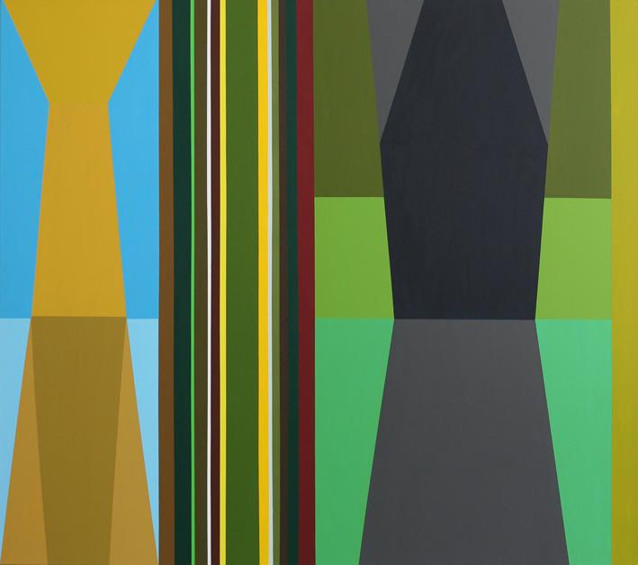 o.T. (behind the door No. 8) 150 x 180, Acrylfarbe auf LW, 2013