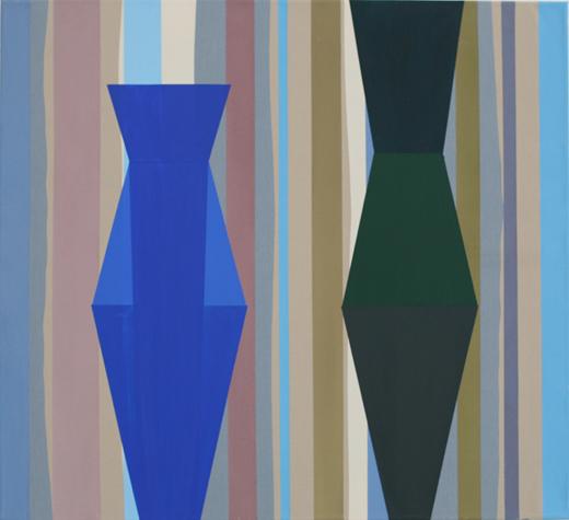 o.T. (kind of blue) 55 x 60 cm, Acrylfarbe auf Stoff, 2013