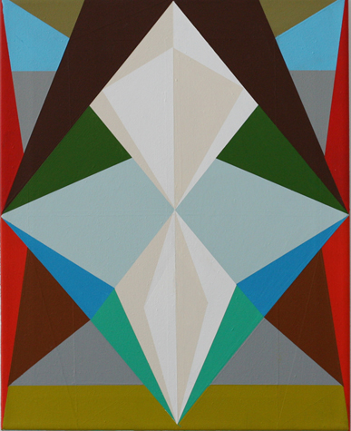 o.T. (nun) 50 x 40 cm, Acrylfarbe auf LW, 2014