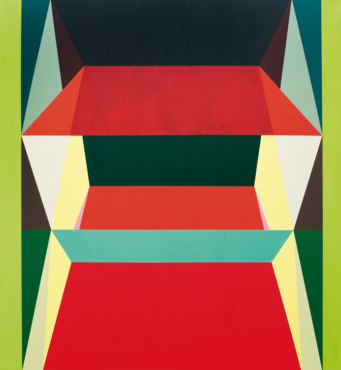 o.T. (red figure) 140 x 130 cm, Acrylfarbe auf LW, 2013