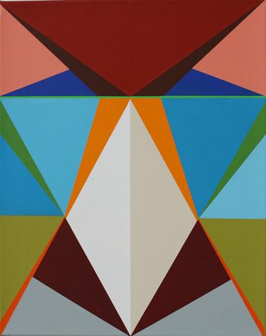o.T. (sugar loaf) 50 x 40 cm, Acrylfarbe auf LW, 2014