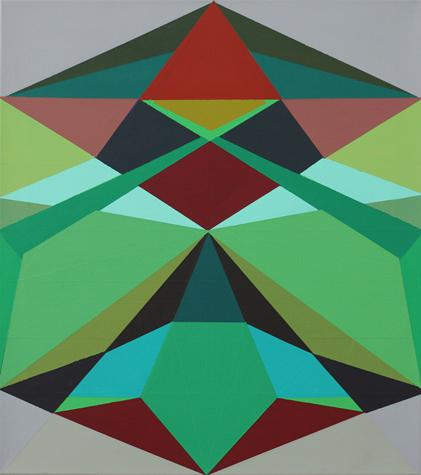 o.T. (two in one) 64 x 57, Acrylfarbe auf LW, 2013