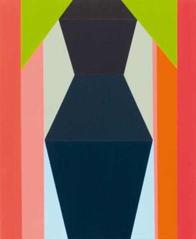 o.T. (black figure) 30 x 25 cm, Acrylfarbe auf Holz, 2013