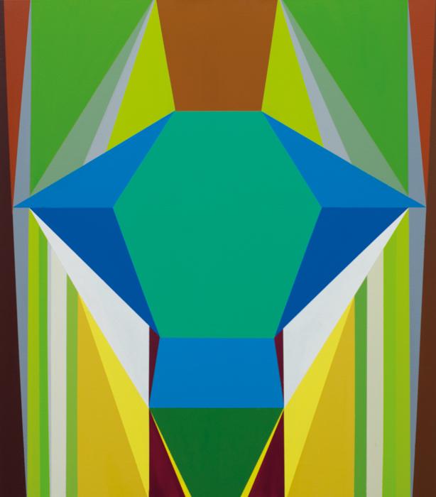 o.T. (blue figure No. 2) 80 x 70cm, Acrylfarbe auf LW, 2013