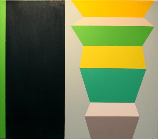 o.T. (green) 50 x 57 cm, Acrylfarbe auf LW, 2012