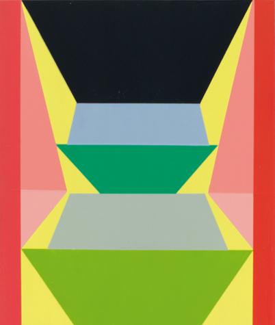 o.T. (on yellow ground) 30 x 25 cm, Acrylfarbe auf Holz, 2013