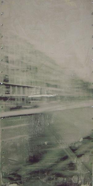 60 Sek. 1 (Serie) 100x50cm, Transferdruck auf Blech, 2013