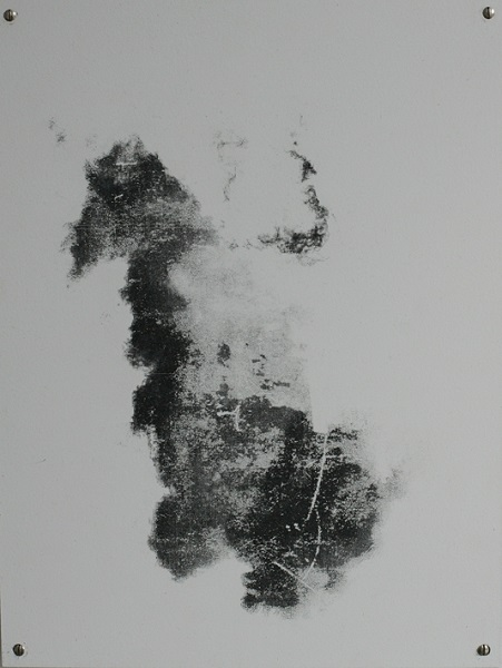 Cloud 37x28cm, Transferdruck auf Metall, 2014