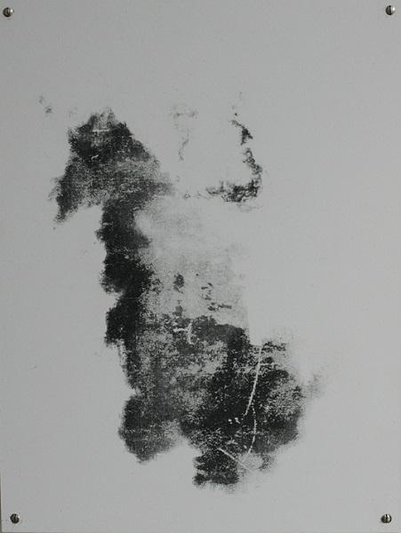 Cloud 37x28cm, Transferdruck auf Metall, 2014