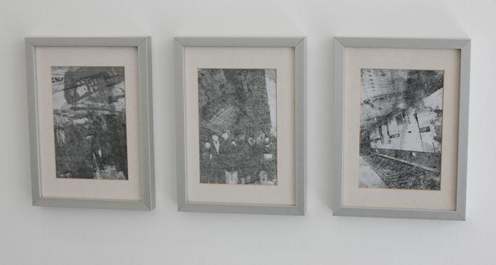 Nine to Five, 1 - 3 je 15 x 10 cm, Transferdruck auf Fotopapier, 2013