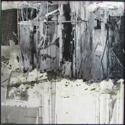 o.T. (1982) 18x 18 cm, acquarellierter Digitaldruck, 2014