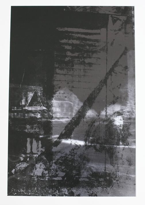 Tricks on you 60 x 40 cm, Siebdruck auf S/W Fotografie, 2013