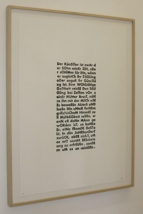 o.T. Hommage an Schiller 75x55cm, Bleisatzdruck, Edition von 7+1AP, 2013