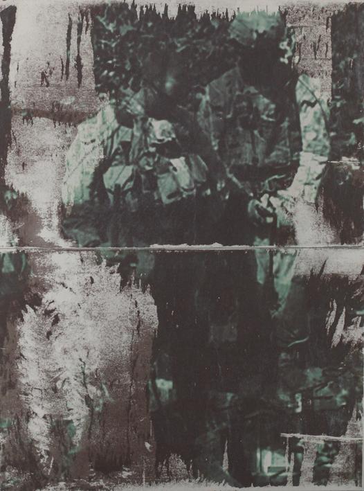 Say your prayer 3 67x51cm, Transferdruck auf Metall, 2014