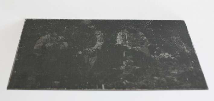 Say your prayer 4 23x38cm, Transferdruck auf Metall, 2014