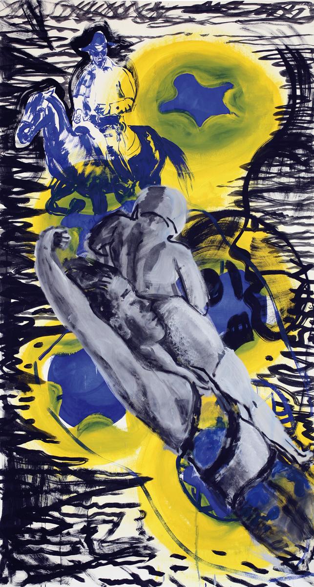 ohne Titel_2012 / 125 x 230 cm_Eitempera/Bütten
