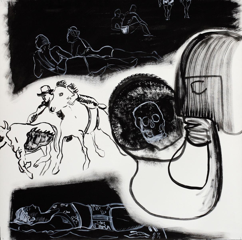 ohne Titel_2012 / 125 x 125 cm_Eitempera/Bütten_zweiteilige Arbeit