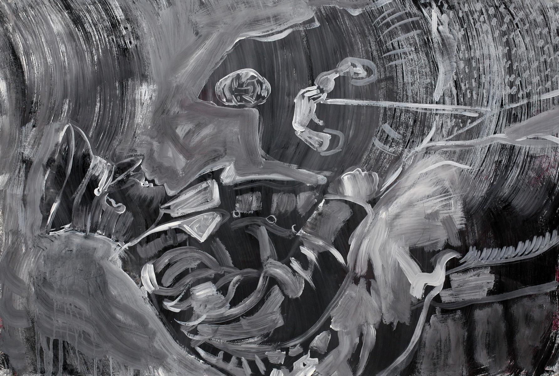 ohne Titel_2012 / 110 x 74 cm_Eitempera/Papier