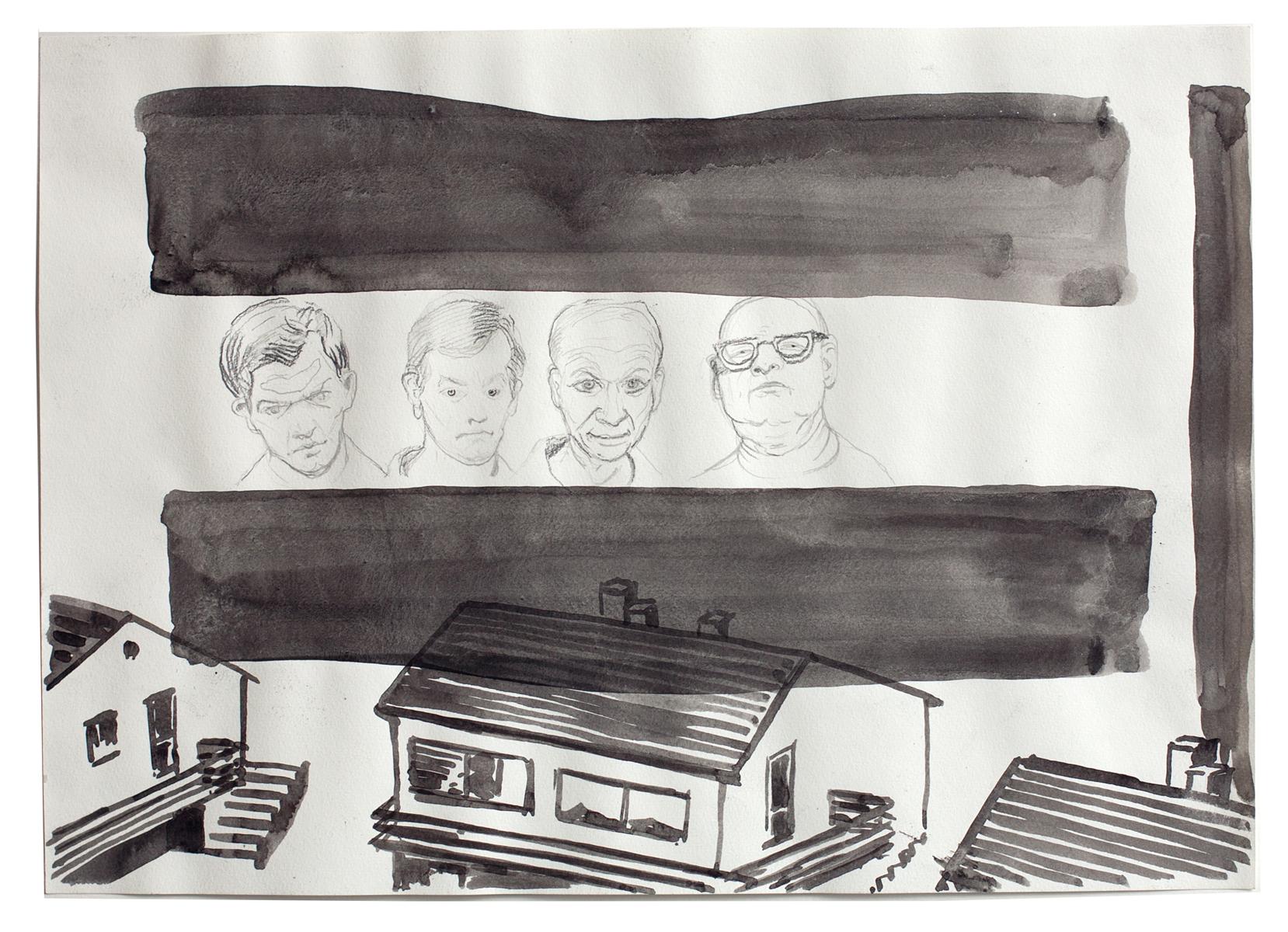 ohne Titel_2008 / 42 x 29,7 cm_Bleistift/Tusche/Papier