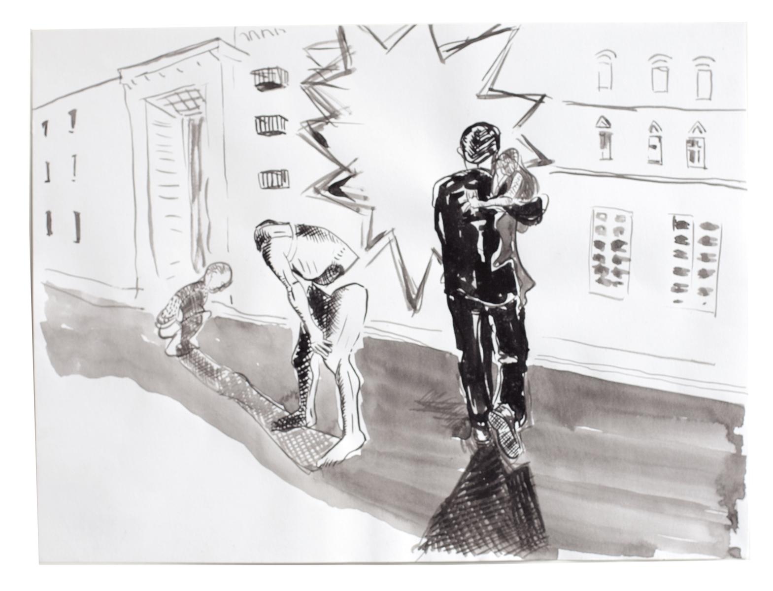 ohne Titel_2012 / 40 x 30 cm_Tusche/Papier