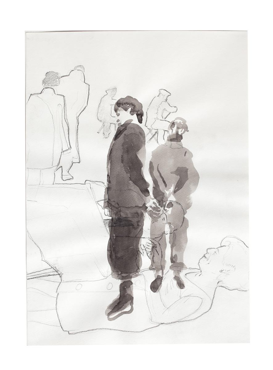 ohne Titel_2008 / 29,7 x 42 cm_Bleistift/Tusche/Papier
