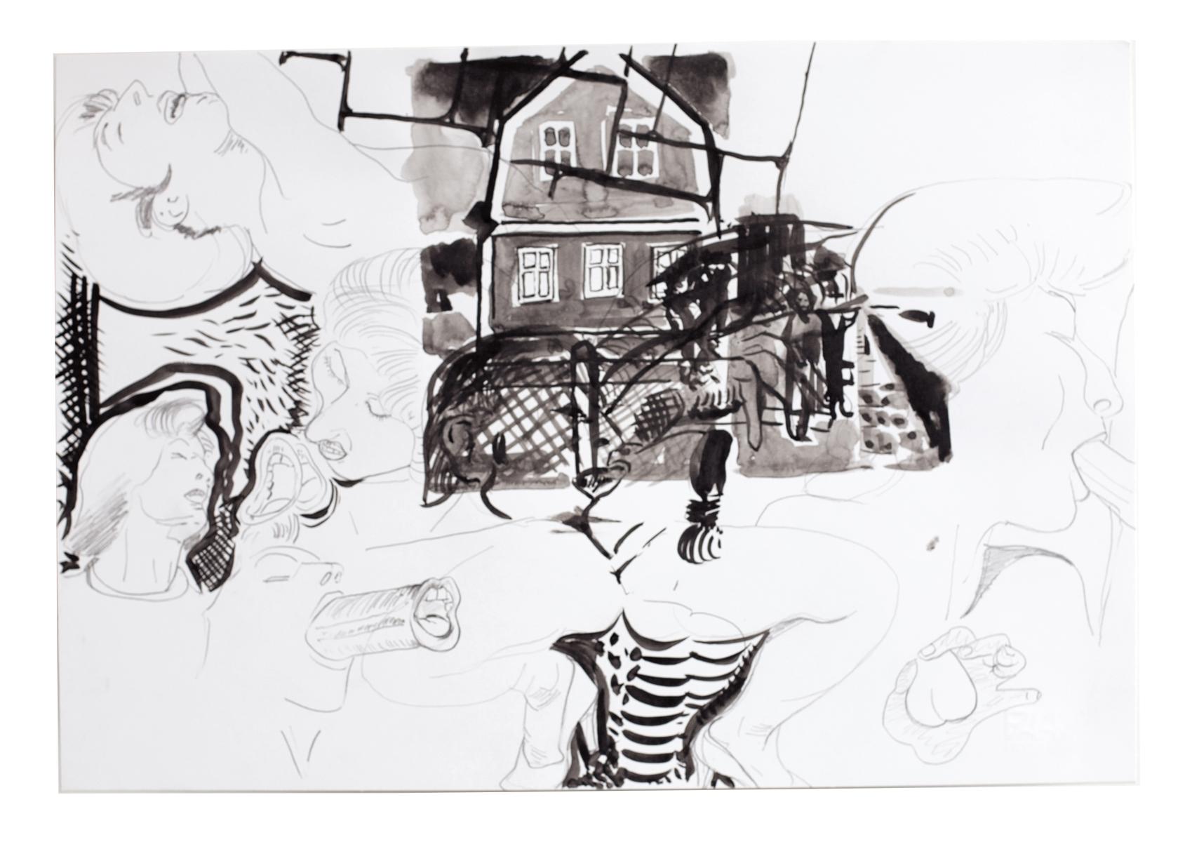 ohne Titel_2008 / 48,5 x 33 cm_Bleistift/Tusche/Papier
