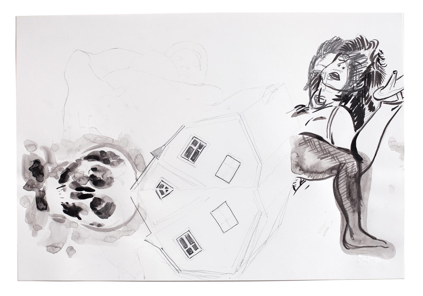 ohne Titel_2006 / 48,5 x 33 cm_Bleistift/Tusche/Papier