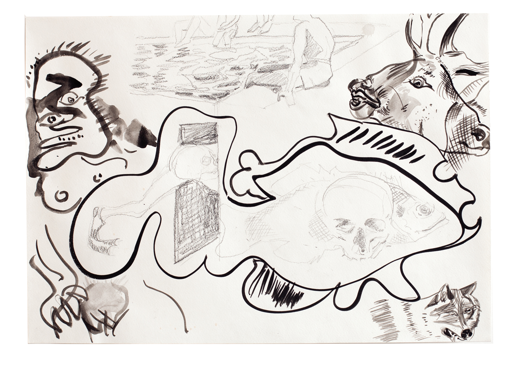 ohne Titel_2012 / 42 x 29,7 cm_Bleistift/Tusche/Papier